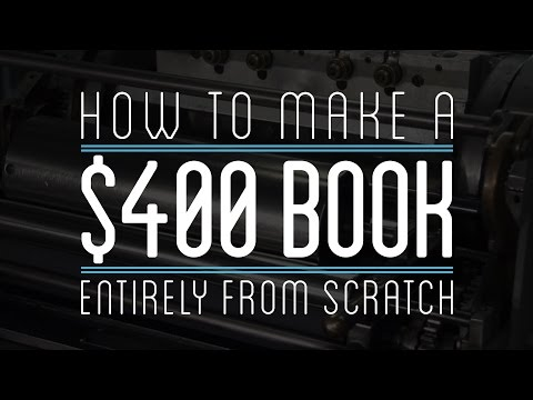 Making a $400 Leather Bound Book Entirely From Scratch (with Hemp, Cotton, & Papyrus Paper)