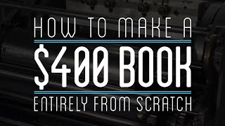 How To Make A $400 Leather Bound Book Entirely From Scratch with Hemp, Cotton, & Papyrus Paper thumbnail