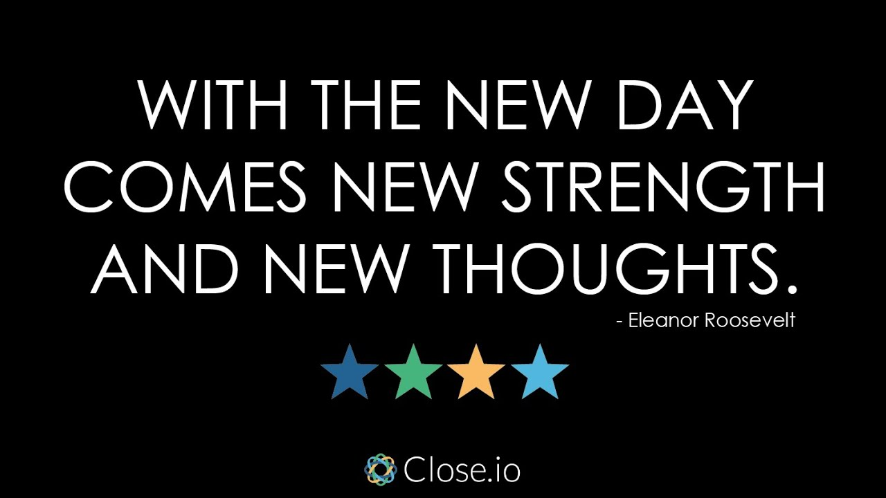 Sales Quote Of The Day Sales Motivation Quote With The New Day Comes New Strength And