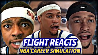 FLIGHT REACTS NBA CAREER SIMULATION   TEAMING UP WITH CURRY!   THE THIRD SPLASH BROTHER?   NBA 2K20