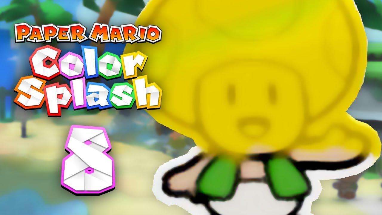 Paper Mario: Color Splash - 8 - Oceanfest PARTY! - YouTube