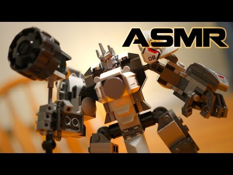 [ASMR] Binaural LEGO Building: Reinhardt from Overwatch thumbnail