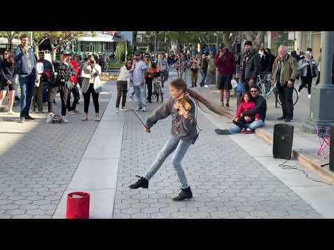 Moana How Far I&39;ll Go - Karolina Protsenko - Violin Cover Street Performance