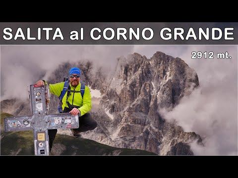 GRAN SASSO: salgo sul Corno Grande vetta occidentale 2912 metri la cima più alta degli Appennini