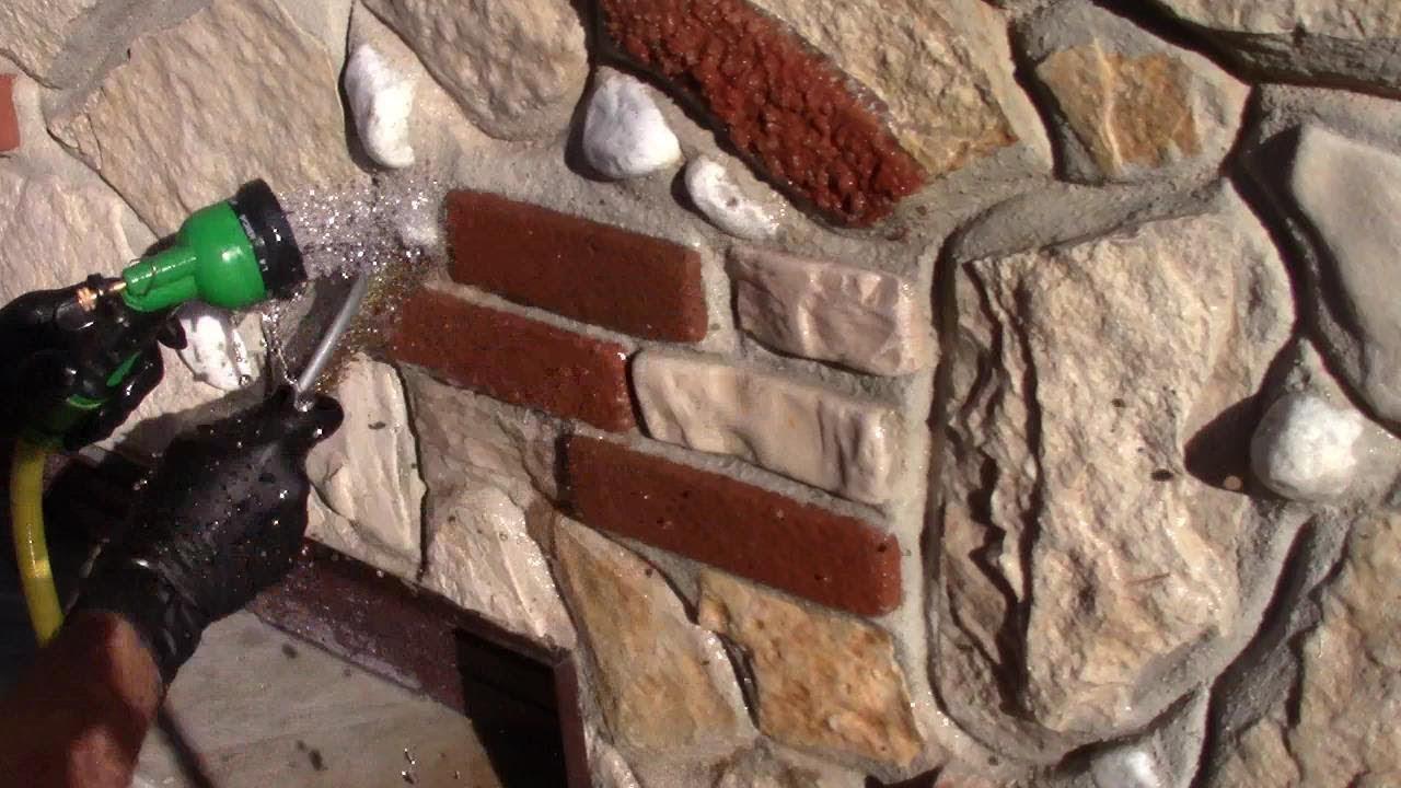 Muro Fatto In Pietra come rivestire un muro con 5 tipi di pietre (2°parte)-how to cover a wall  with stones (2nd part)