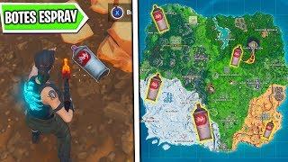 Find Lost Spray Boats - Shoot and Paint Challenges Fortnite