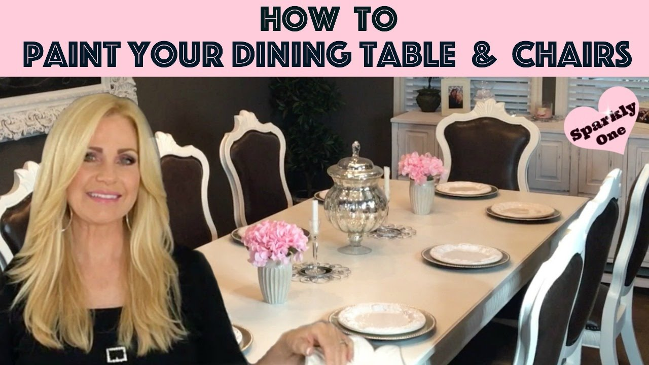 How to Paint Your Dining Table & Chairs with Behr Alkyd Paint 💖