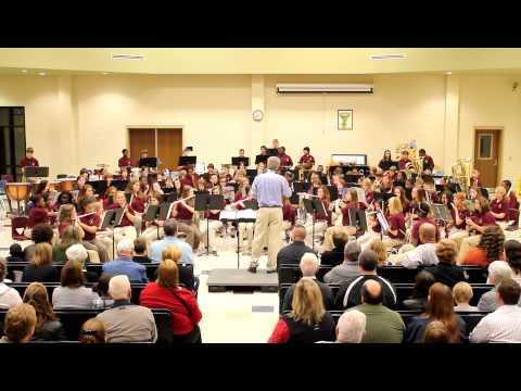 Austin Middle School 7th Grade Band - 2011 Christmas Concert - Polar Express