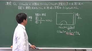 【化学基礎】濃度の考え方(3of3)