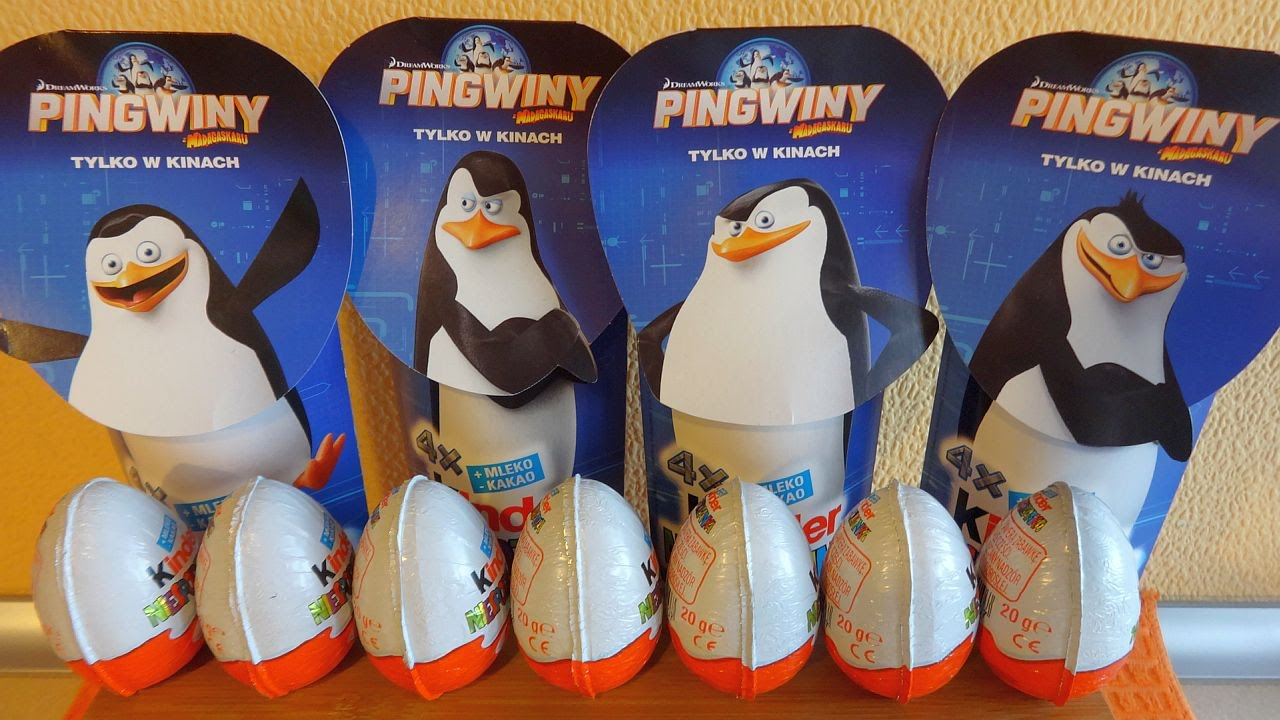 Penguins of Madagascar Movie 16 Kinder Surprise Eggs + Toys Unboxing Huevos Sorpresa