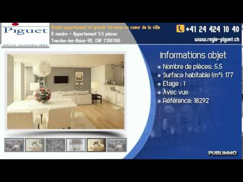 À vendre - Appartement 5.5 pièces Yverdon-les-Bains-VD, CHF 1'390'000