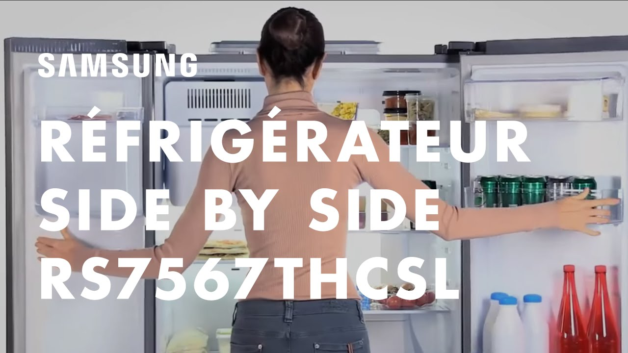 Samsung Refrigerateur Americain Side By Side H Series Rs7567thcsl