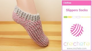 Learn how to Crochet: Slippers Socks