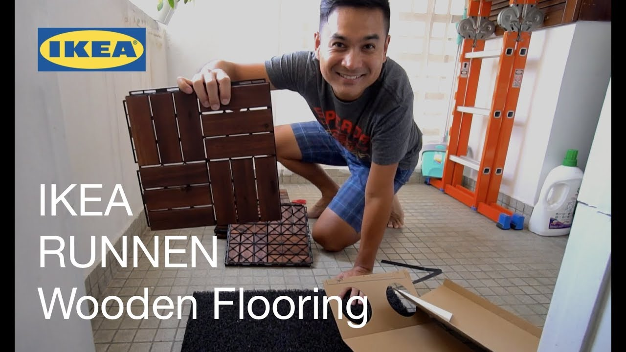 Balcony Makeover - IKEA Runnen Wooden Flooring Installation