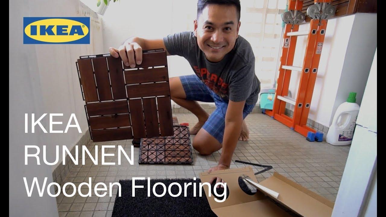 balcony makeover ikea runnen wooden flooring installation