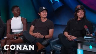"""The Walking Dead"" Cast Spill The Beans On Season Six  - CONAN on TBS"