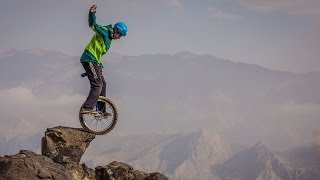 World Record: Highest Unicycle Mountain Descent