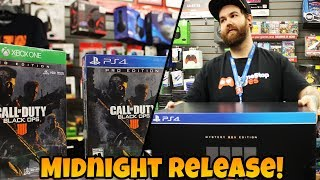 Call Of Duty BLACK OPS 4 Gamestop Midnight Release Vlog!  😱 THE MANAGER SAW MY VIDEO FROM LAST YEAR