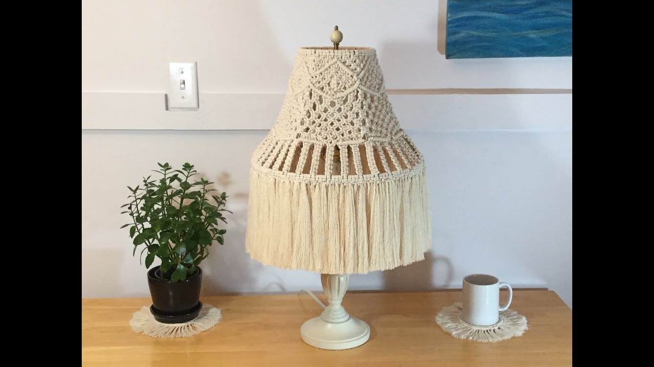 HOW TO - MAKE A MACRAME LAMPSHADE - STEP BY STEP TUTORIAL ...