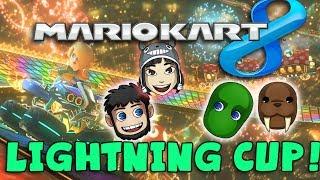 MARIO KART 8! Lightning Cup 100CC with Hat Films & Kim!
