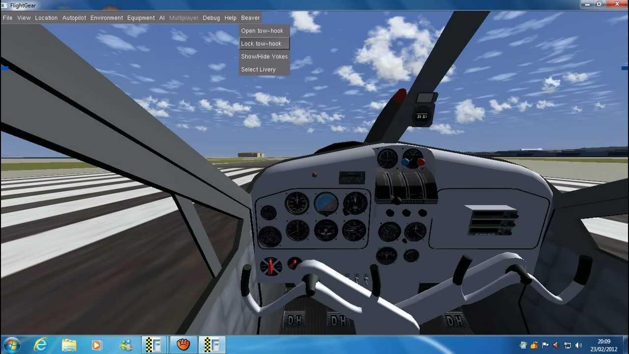 Voo em flight gear-C172p-bem sucedido