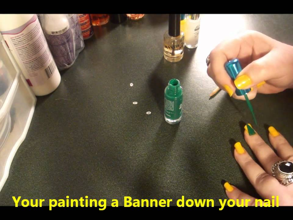 Greenbay Packers Super Bowl XLV Champs Nail Design By Cre8 - YouTube