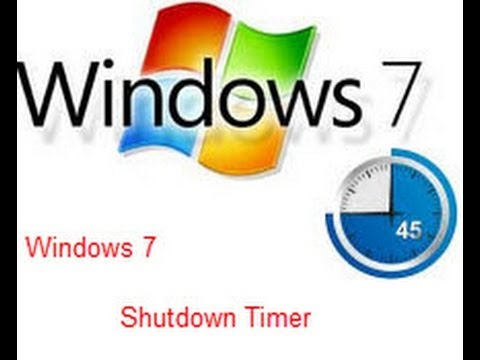 HOW TO SET SHUTDOWN TIMER IN WINDOWS 7 (WITHOUT SOFTWARE)