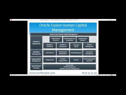 Oracle Fusion Cloud HCM (Human Capital Management) Real Time Online Training Demo Video