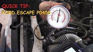 Quick Tip: Ford Escape P0455 Purge Solenoid Stuck