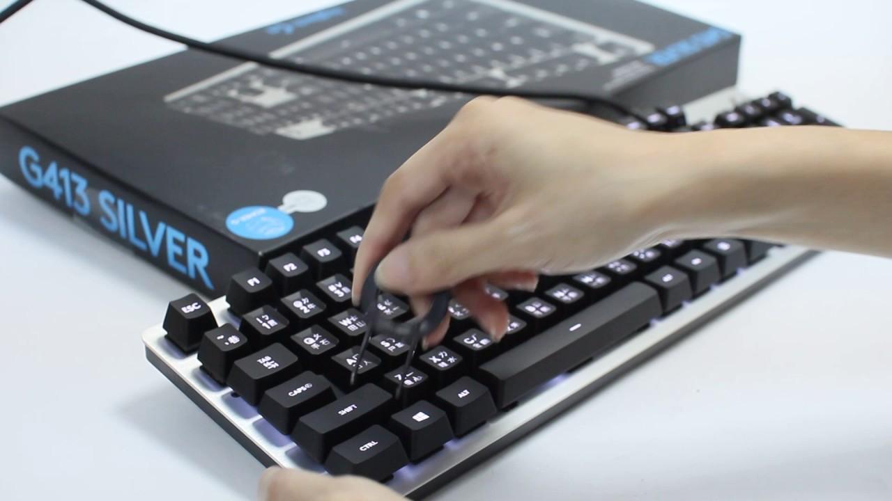 【原價屋】羅技 G413 機械式鍵盤 / ROMER-G軸!質感至上! - YouTube