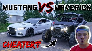 Mustang owner gets OWNED by Maverick X3