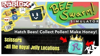 Roblox Bee Swarm Simulator | Scissors and all Royal Jelly Locations | RobinKing