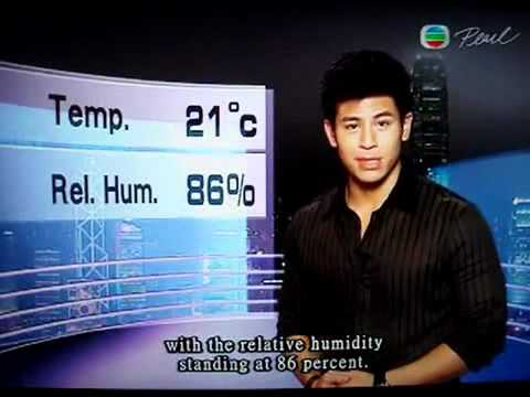 Hunky Alan Wan (溫家偉) weather report of TVB Pearl