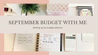 September Monthly Budget With Me