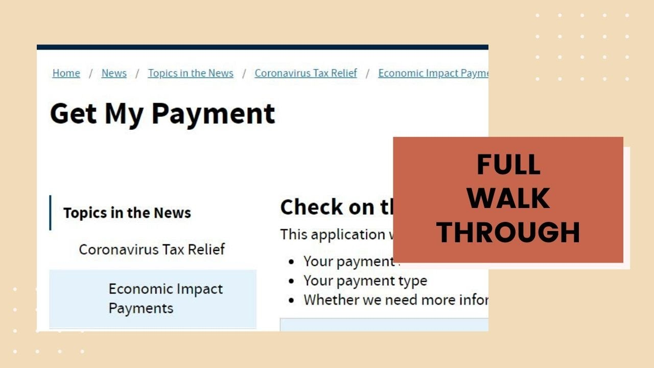 'Get My Payment' IRS tool active as first stimulus checks go out