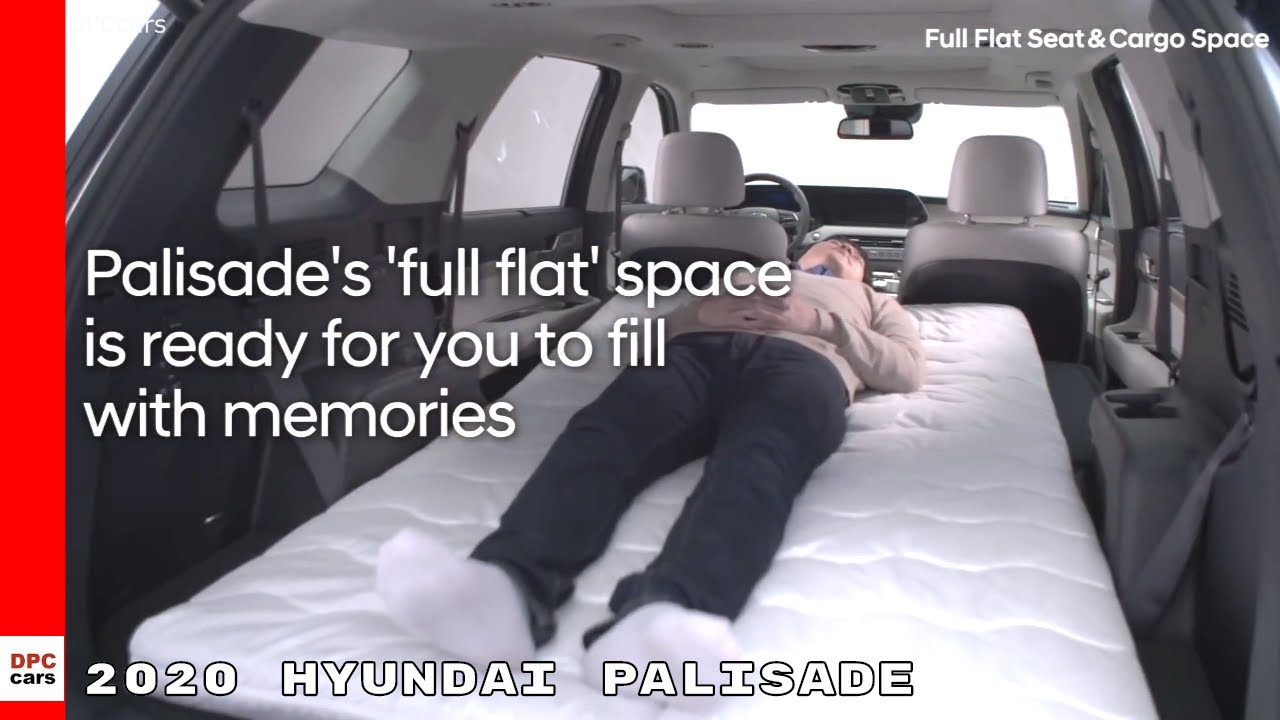 The 2020 hyundai palisade is a new 8 passenger suv that replaces the santa fe xl with an during an early look at the 2020 palisade i was impressed with the interior quality and the amount of the third row includes power folding and unfolding seats to quickly switch from passenger to cargo. 2020 Hyundai Palisade Full Flat Seat Bed Cargo Space Youtube