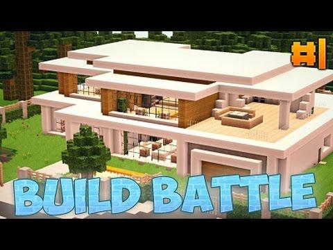Build battle 1 como hacer una casa moderna en minecraft for Casa moderna minecraft paso a paso
