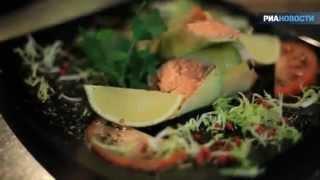Рецепт. Рулет из семги, лука порея и томата