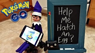 Purple Elf on the Shelf - Caught Hatching Pokemon Go Eggs Moving Around - Day 22