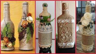 Beautiful bottle jute craft decoration ideas