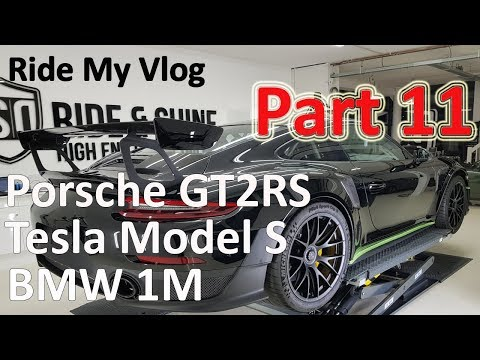 High End Car Detailing Ride My Vlog 11 with Porsche GT2RS - Tesla Model S and more!