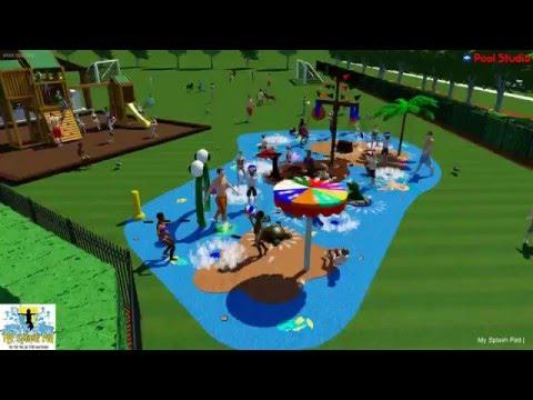 My Splash Pad James Island Jacksonville, FL design and build splashpad turnkey community water park