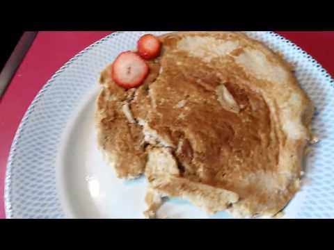 tortita de avena y manzana facil y sencilla.