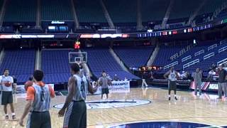 Shane Larkin, Miami Hurricanes practice dunks before ACC tournament