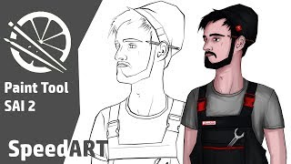 SPEED ART - Mechanic - Paint Tool SAI 2