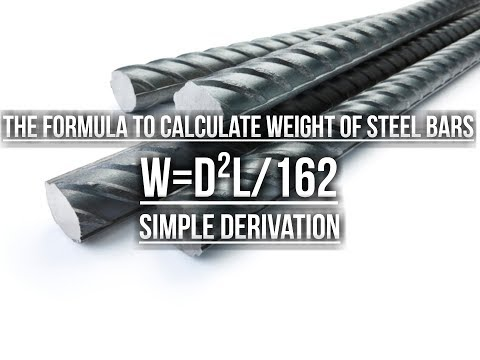 How to find the weight of steel rods by using formula.