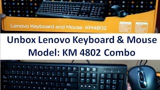 Unboxing and Review Lenovo KM4802 Keyboard & Mouse Combo | Hindi