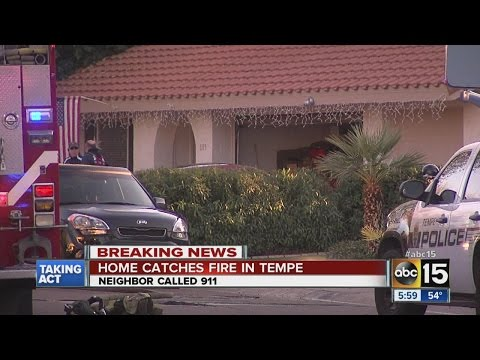 Neighbor calls 911 when fire sparks in Tempe home