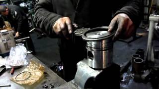 Установка поршневых колец xvid