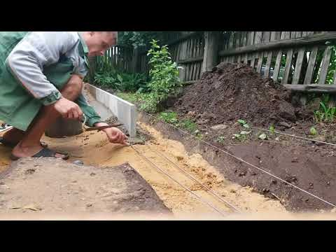Как установить бордюры для тротуарной плитки своими руками